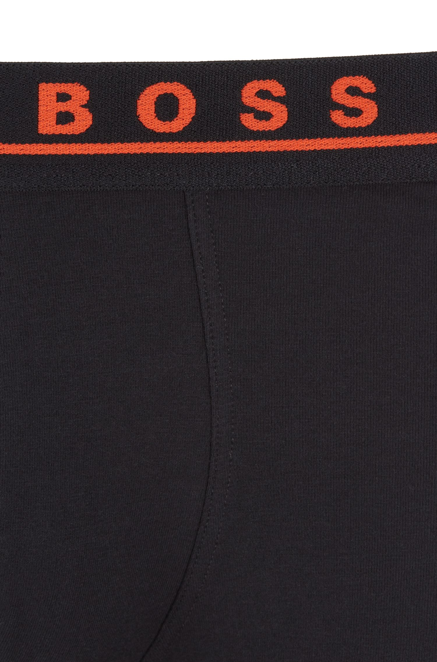 Three-pack of boxer briefs with contrast-logo waistbands, Patterned