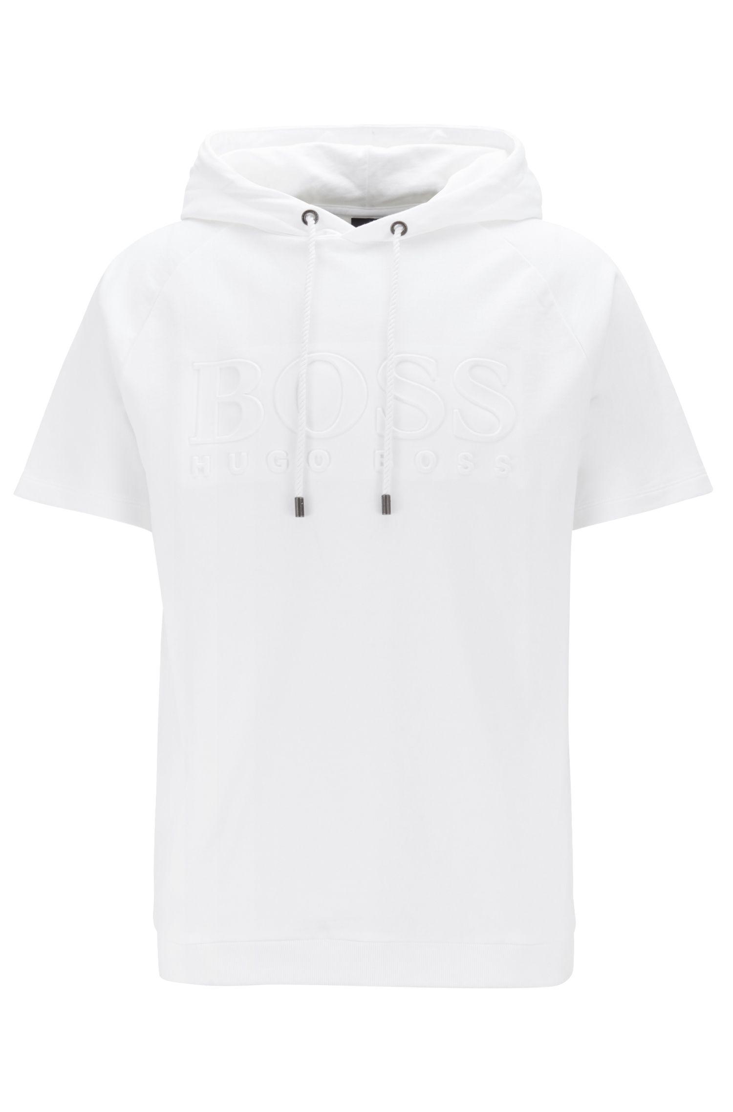 Regular-fit lounge-T-shirt van badstof, Wit