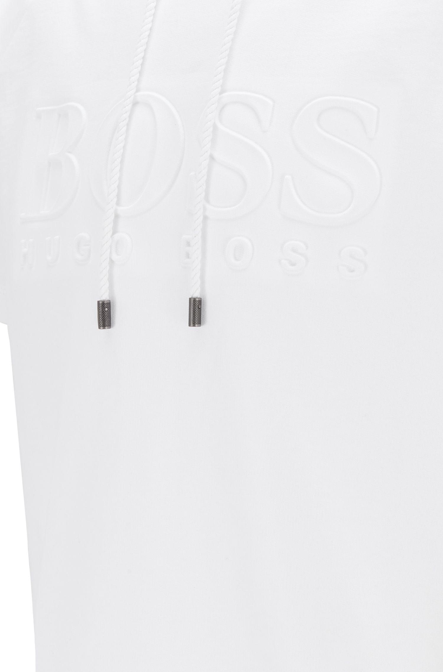 Regular-Fit Loungewear-Shirt aus French Terry, Weiß