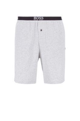 Regular-Fit Pyjama aus Interlock-Jersey, Grau