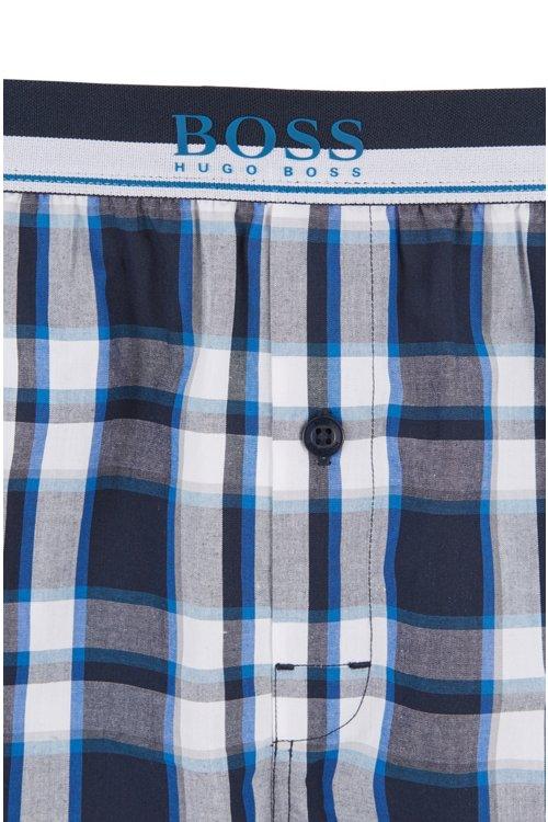 Hugo Boss - Camiseta y shorts de pijama en popelín de algodón con cuadros lisos - 2