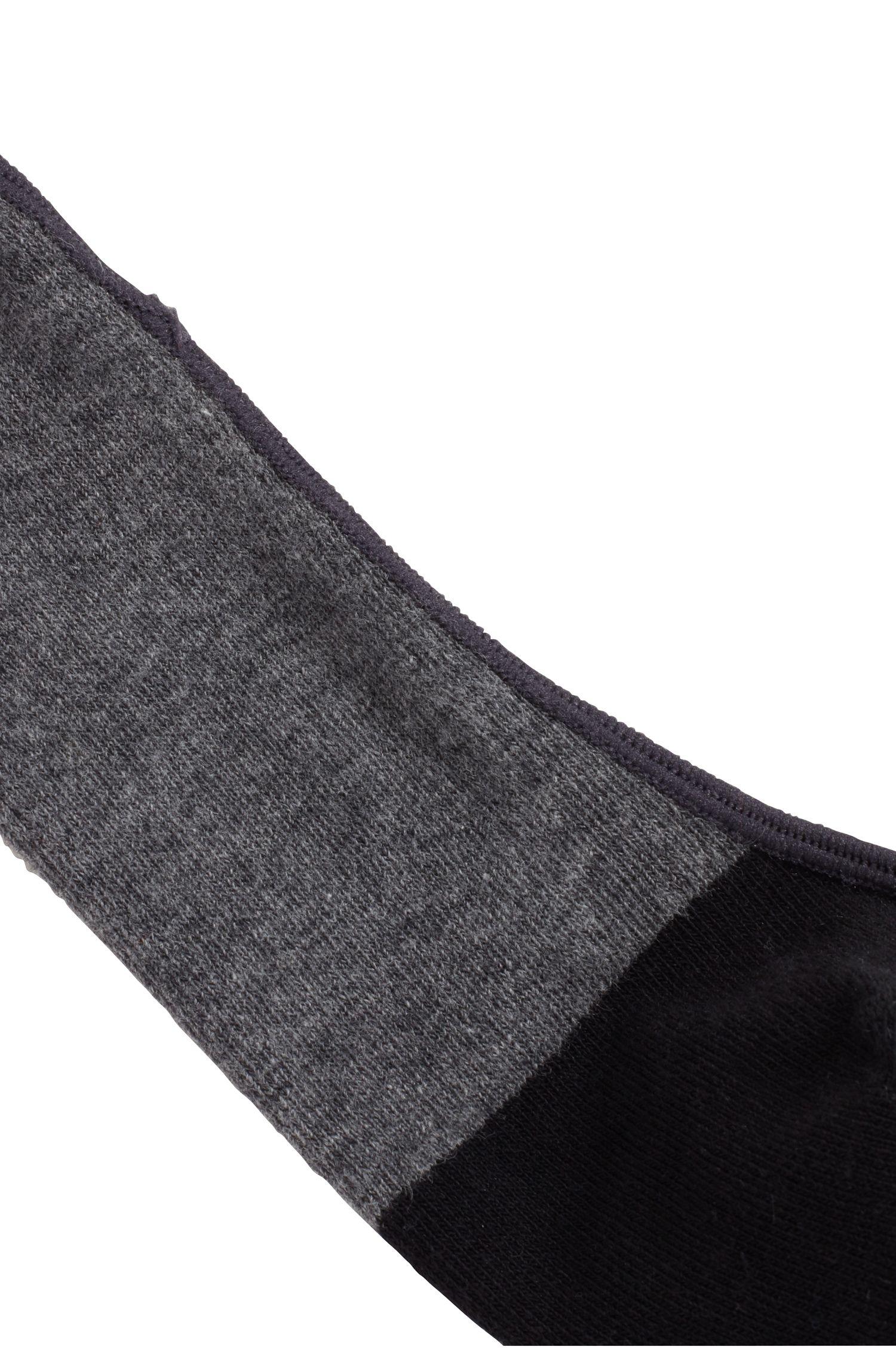 Füßlinge aus gekämmtem Baumwoll-Mix, Grau