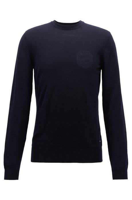Limited-edition FC Bayern Munich sweater in virgin wool, Dark Blue