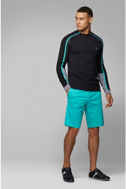 Hugo Boss - Knitted sweater in a cotton blend with tonal details - 2