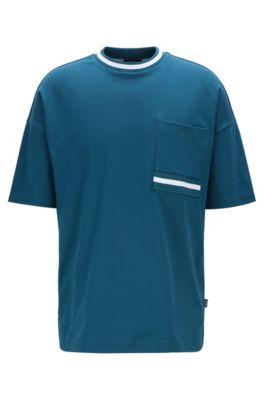 Relaxed-fit T-shirt van superzachte katoen, Blauw