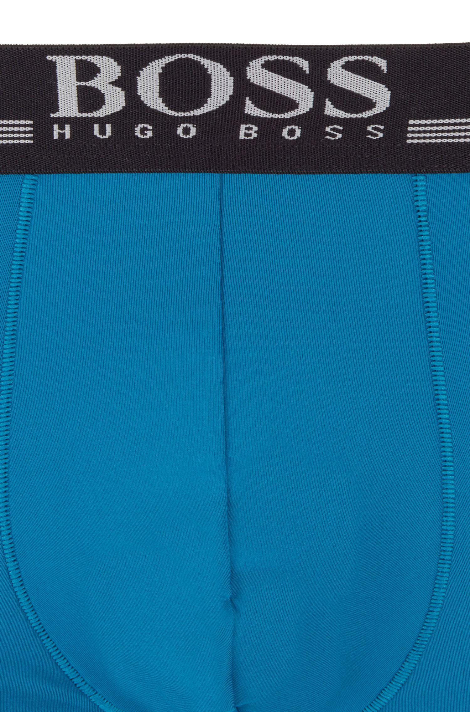 Sneldrogende boxerslip van microvezel met vierzijdige stretch, Turkoois