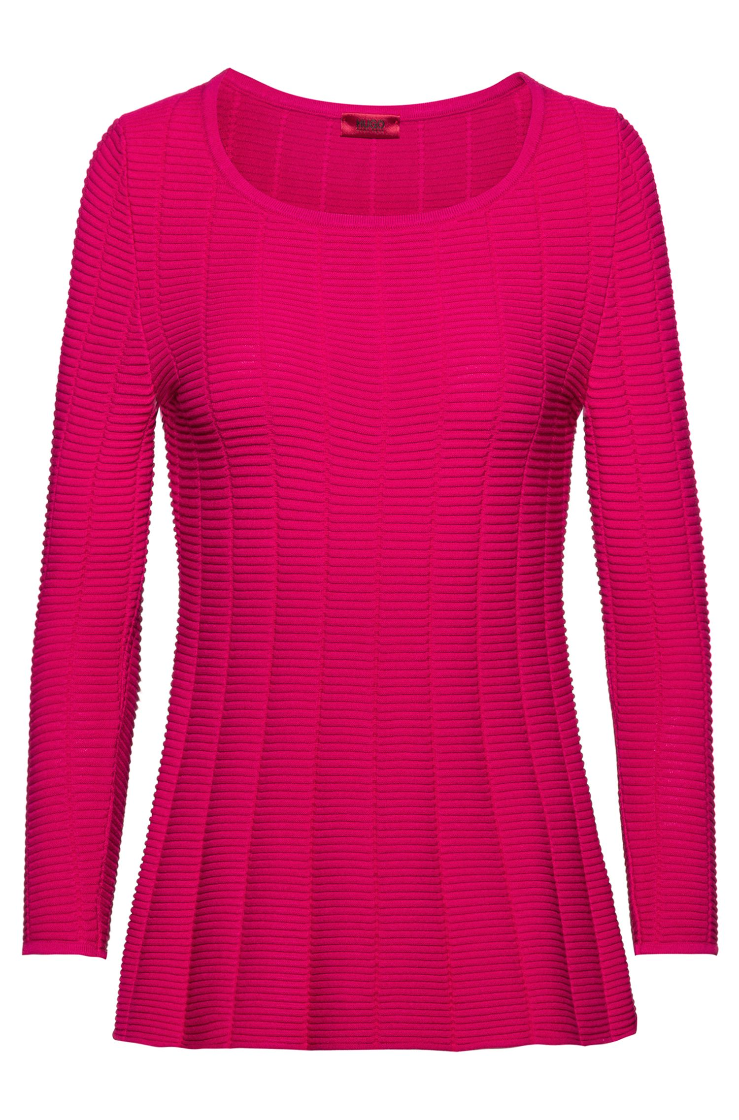 Pull Slim Fit super stretch à basque, Rose