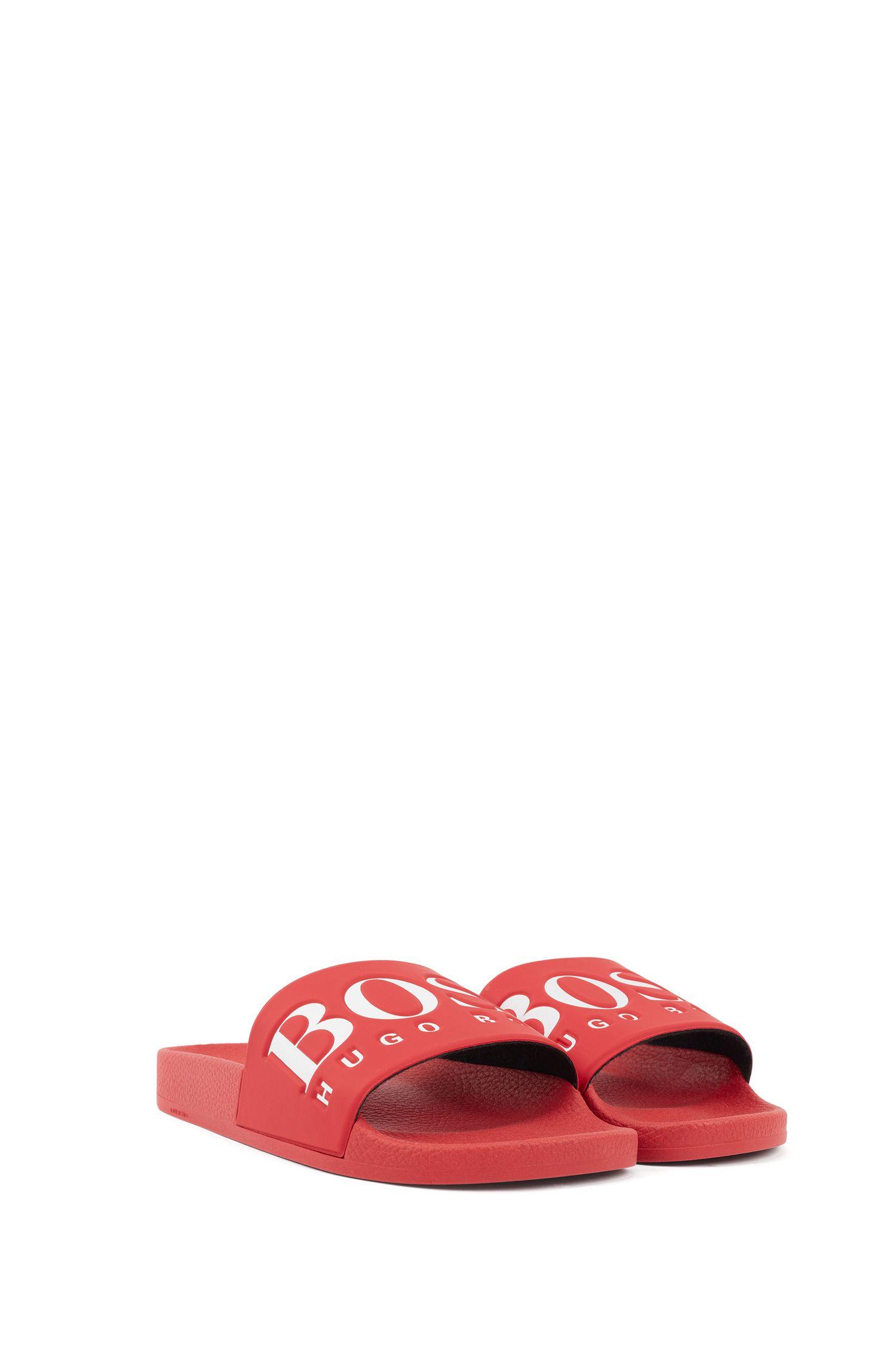 Logo slides with ergonomic footbed, Pink