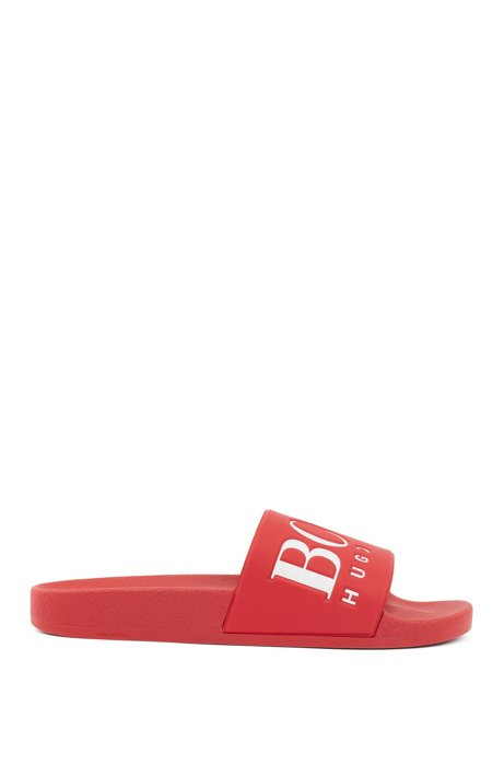 Logo slides with ergonomic footbed, Pink
