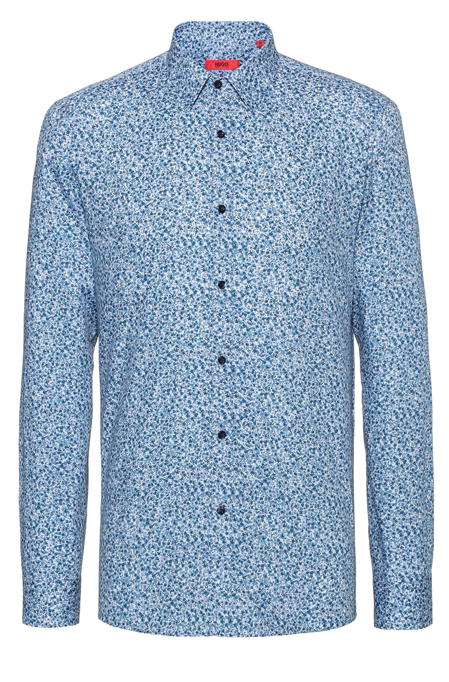 Extra slim-fit overhemd van zuivere katoen, Bedrukt