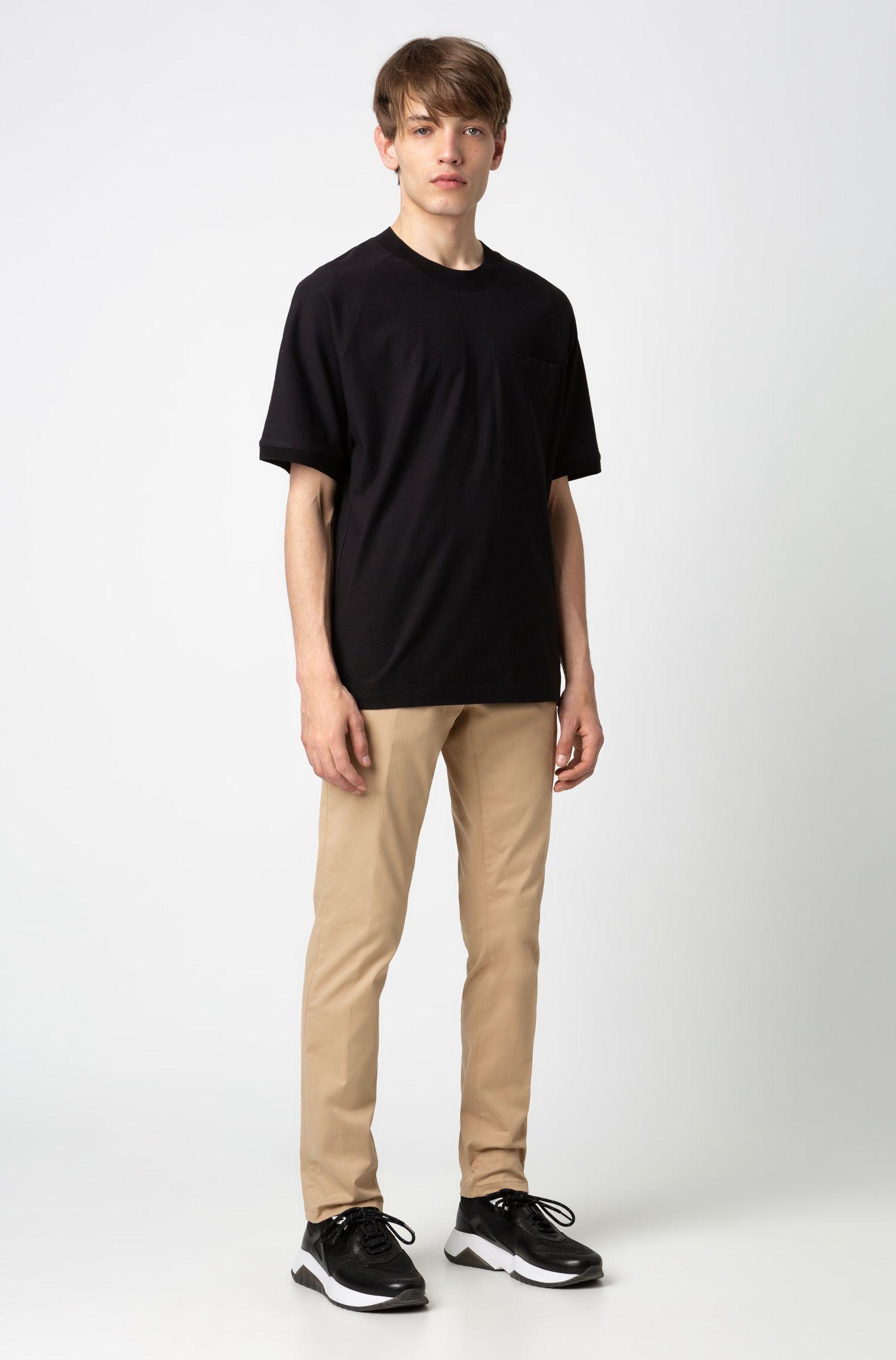 Pantalon Slim Fit en gabardine de coton stretch, Beige
