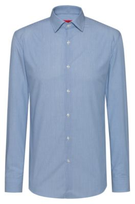 Chemise Slim Fit à rayures en popeline de coton facile à repasser, Fantaisie