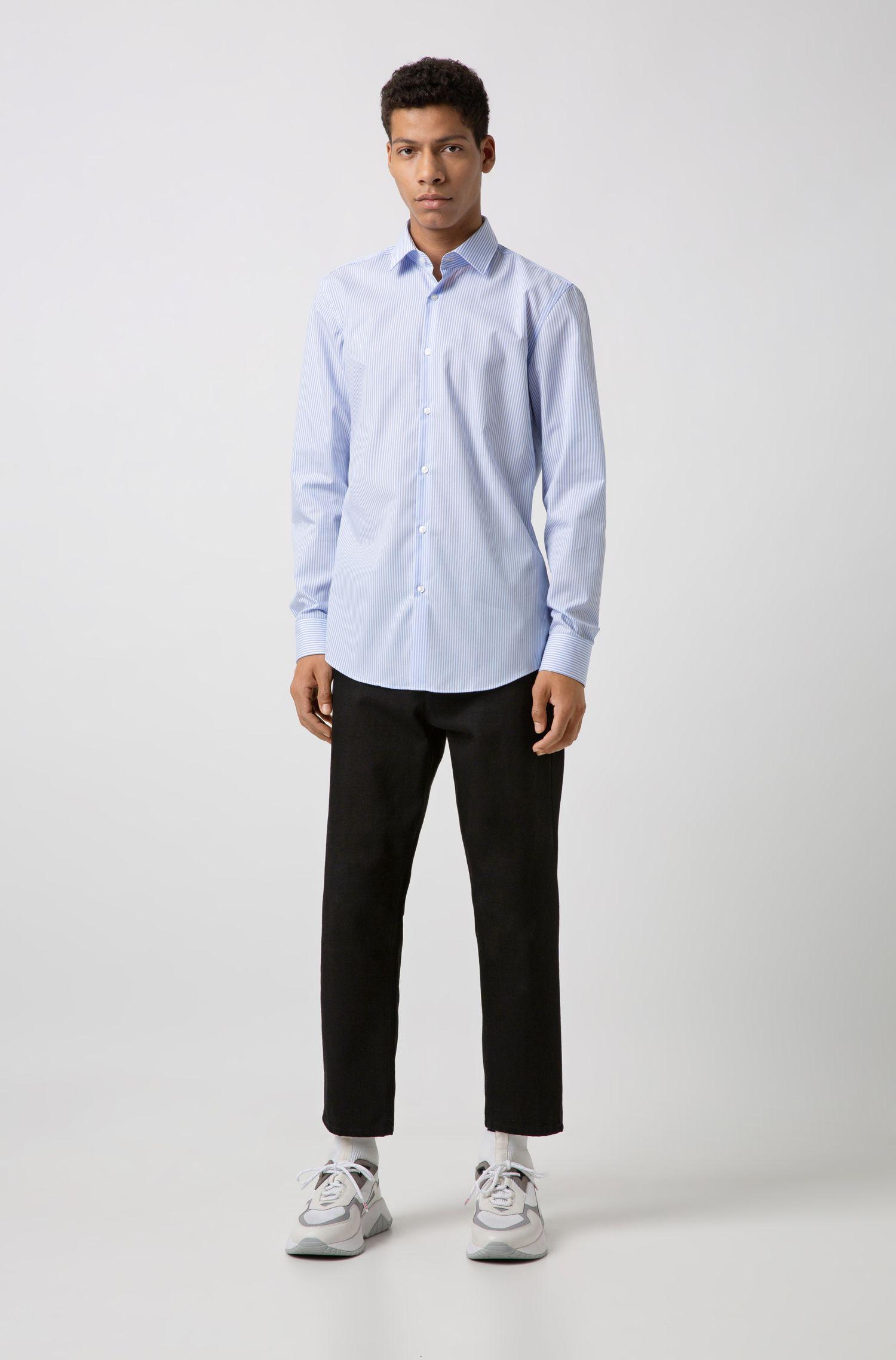 Chemise Slim Fit à rayures en coton facile à repasser, Fantaisie