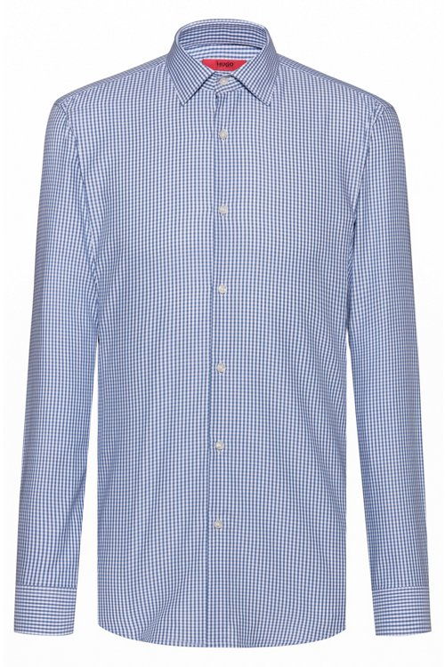Hugo Boss - Slim-fit shirt in checked easy-iron cotton - 1