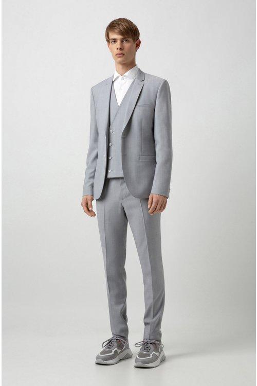 Hugo Boss - Camisa slim fit de algodón con logos estampados en contraste en el interior - 2