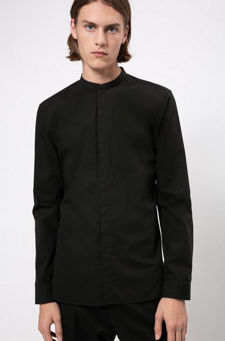 Extra slim-fit overhemd van gemakkelijk te strijken katoen, Zwart