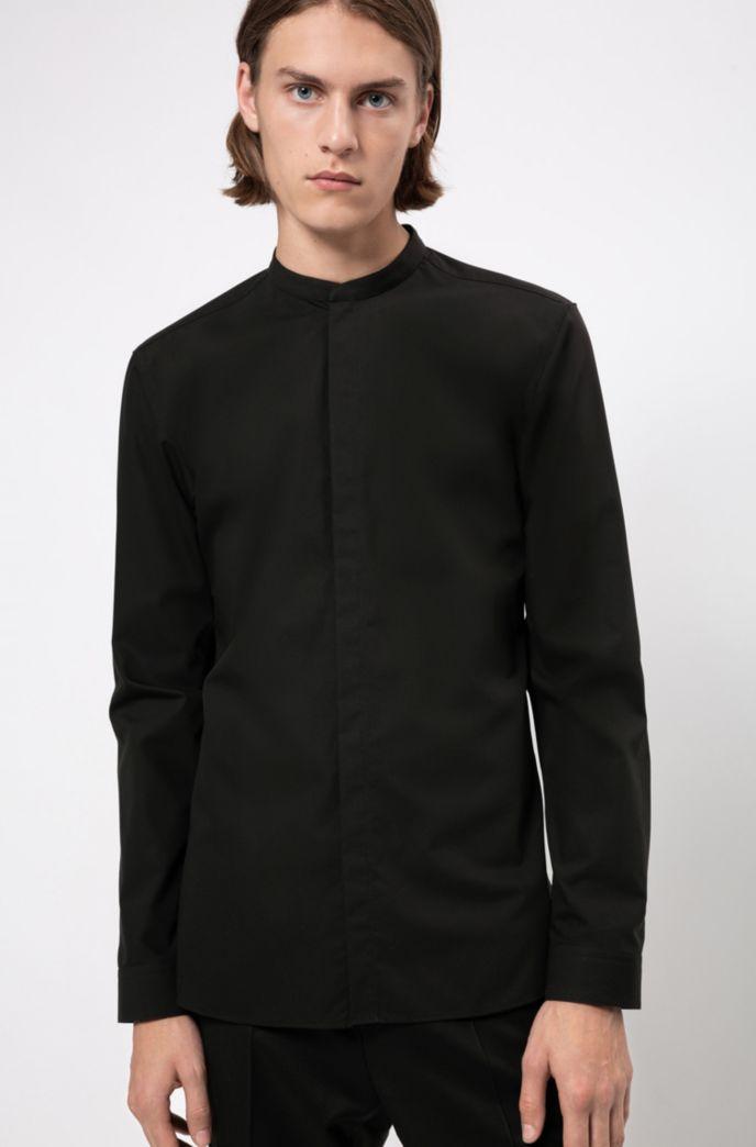 Extra slim-fit overhemd van gemakkelijk te strijken katoen