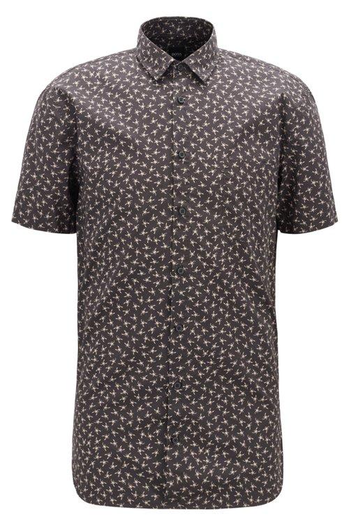 Hugo Boss - Camisa slim fit de algodón con miniestampado de escorpión - 1