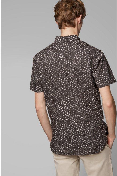 Hugo Boss - Camisa slim fit de algodón con miniestampado de escorpión - 4