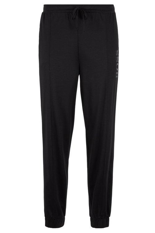 Hugo Boss - Cuffed-hem pyjama trousers with foil-print logo - 1