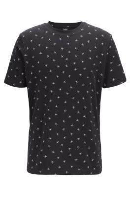 T-shirt Regular Fit à mini imprimé scorpion, Noir