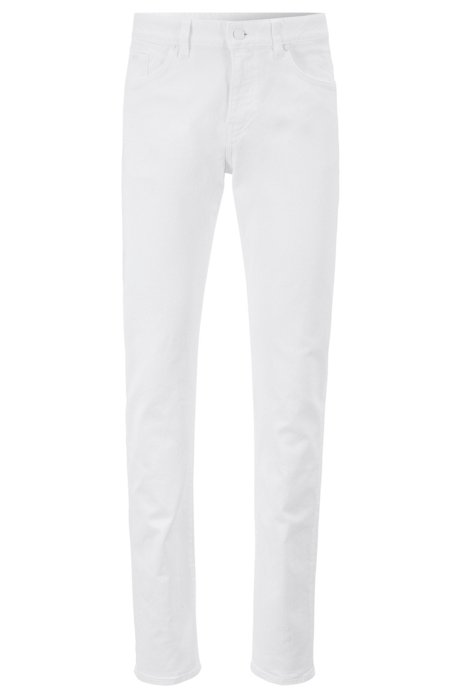 Slim-fit jeans in overdyed stretch denim, White