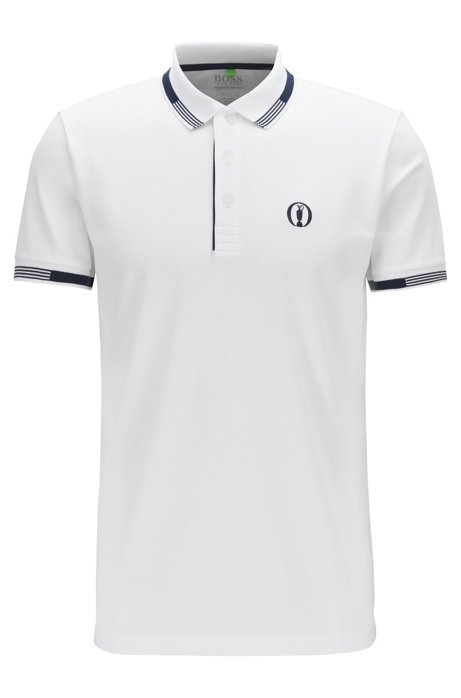 The Open Exclusive polo shirt with S.Café®, White