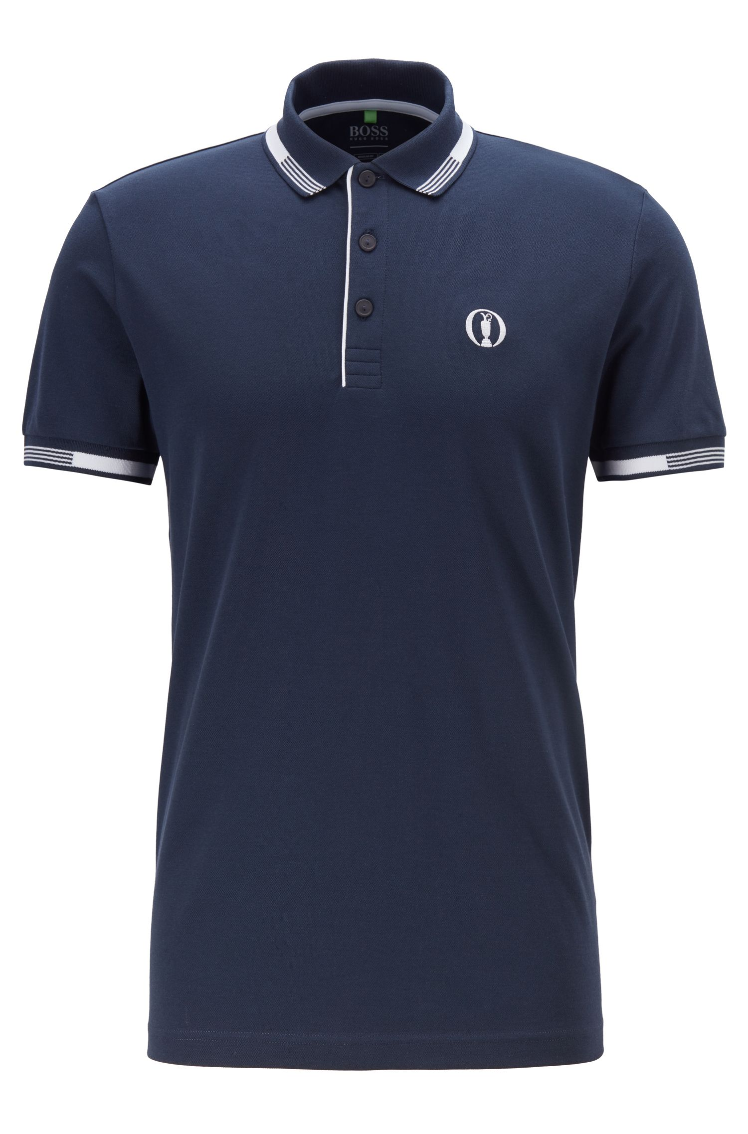 The Open Exclusive polo shirt with S.Café®, Dark Blue