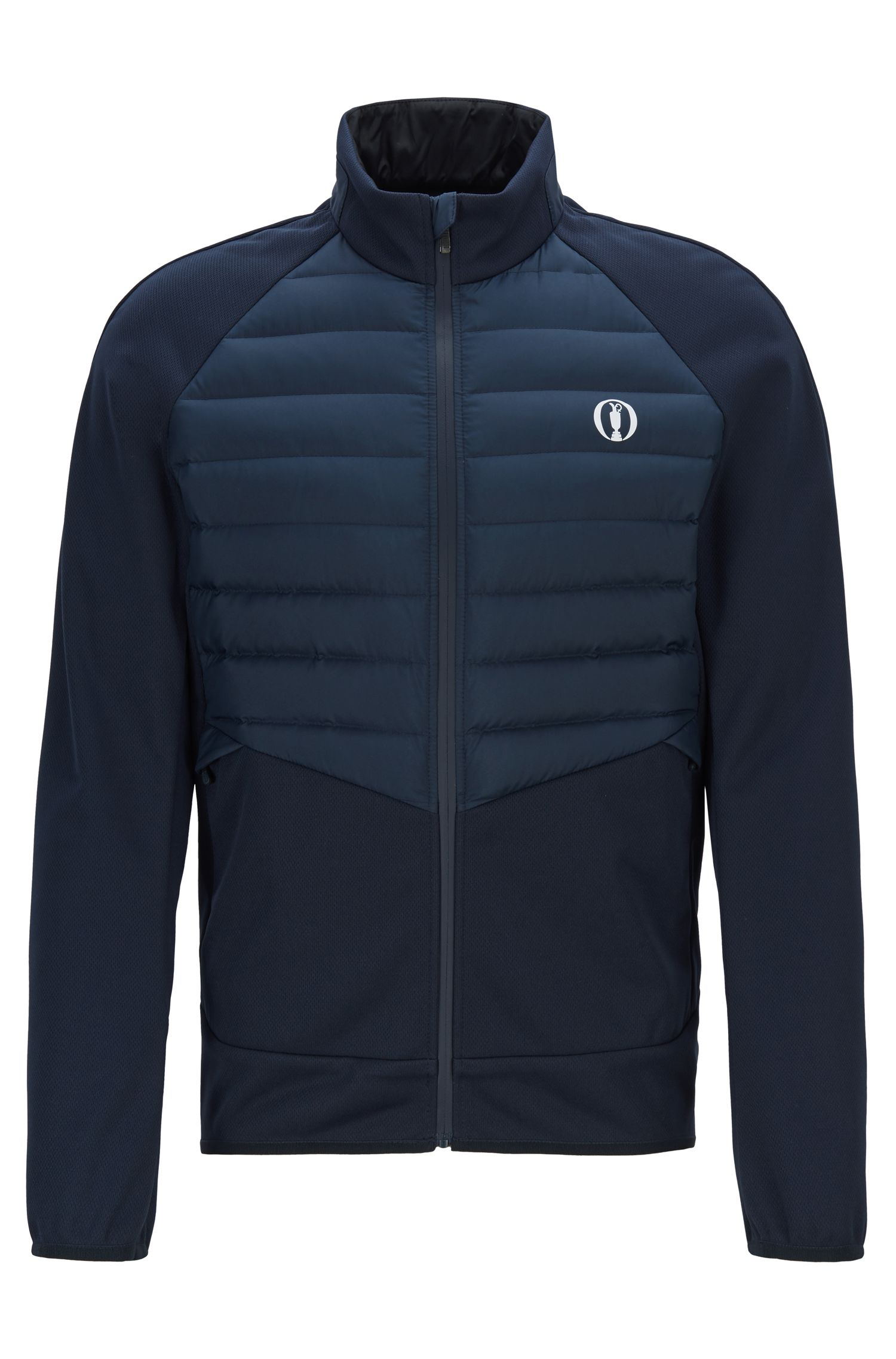 Veste The Open exclusive Slim Fit, avec parties déperlantes, Bleu foncé