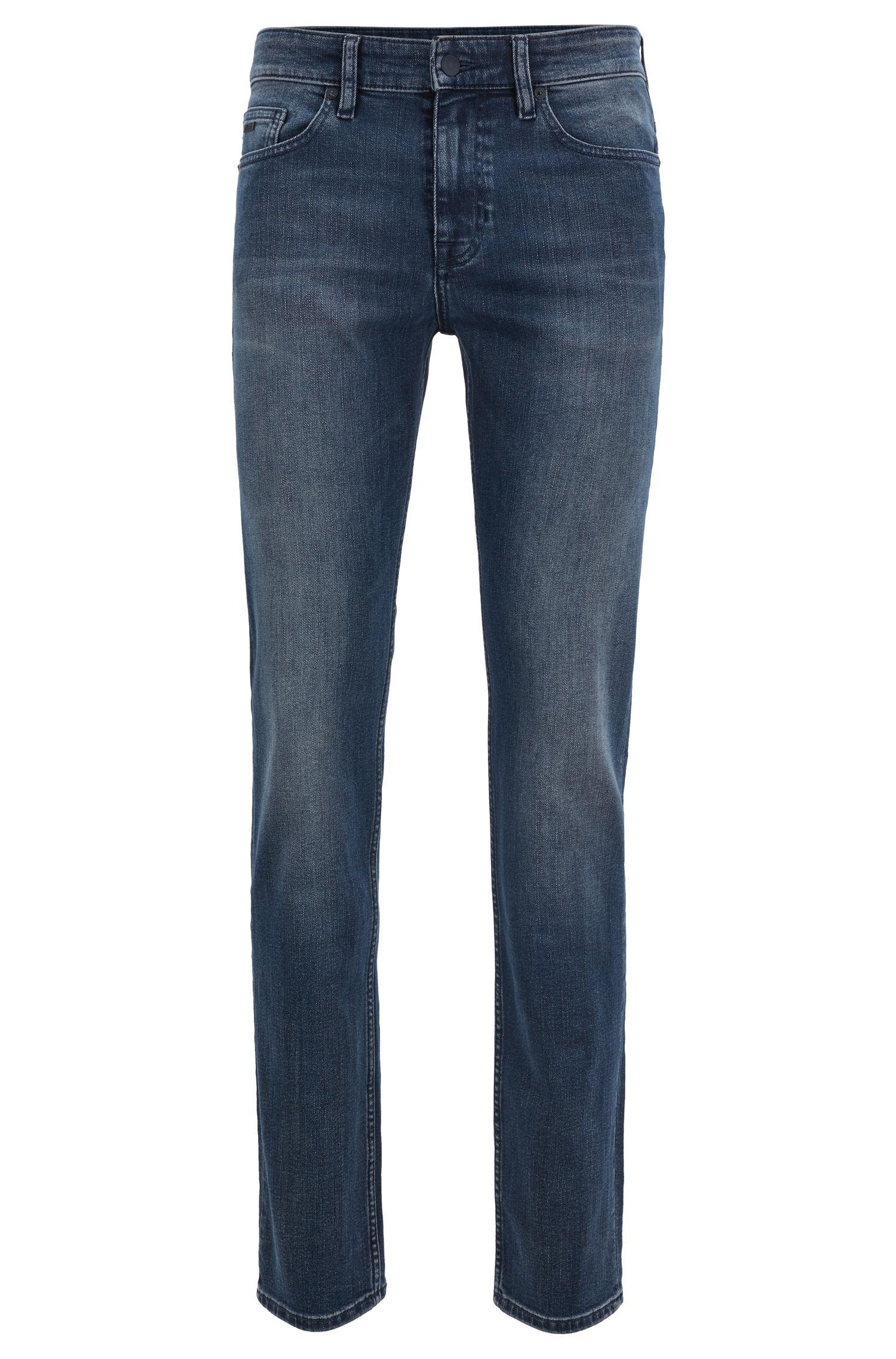 Slim-fit jeans in soft-washed comfort-stretch denim, Blue