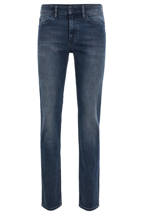 Hugo Boss - Slim-fit jeans in soft-washed comfort-stretch denim - 1