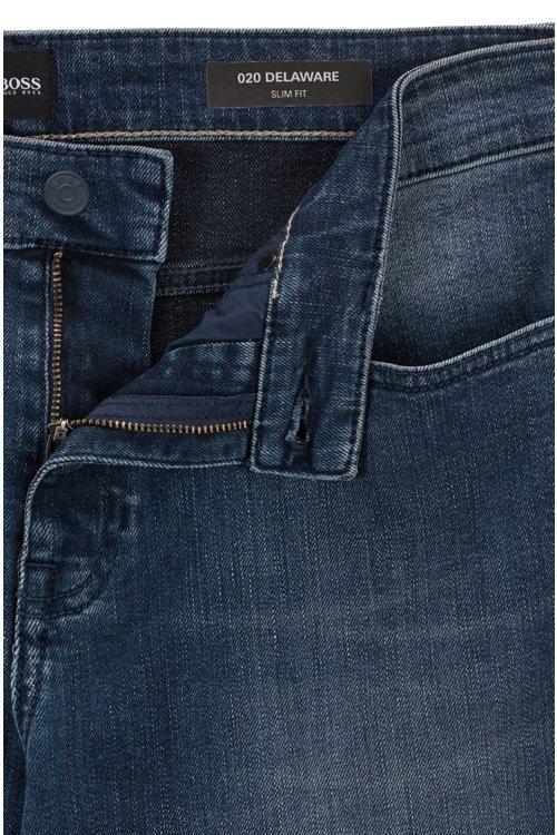 Hugo Boss - Slim-fit jeans in soft-washed comfort-stretch denim - 6