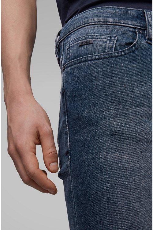 Hugo Boss - Slim-fit jeans in soft-washed comfort-stretch denim - 5