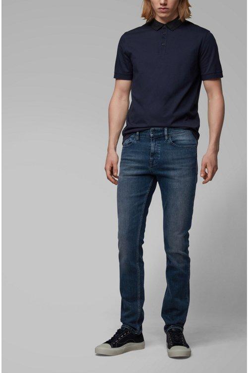 Hugo Boss - Slim-fit jeans in soft-washed comfort-stretch denim - 3
