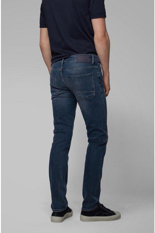 Hugo Boss - Slim-fit jeans in soft-washed comfort-stretch denim - 4