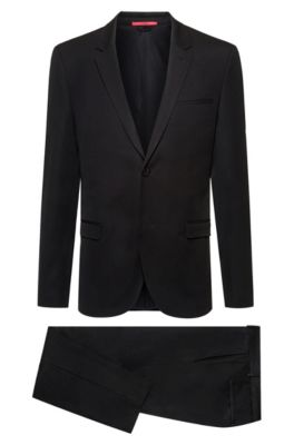 362fb3cb6 Extra-slim-fit packable suit in virgin-wool twill