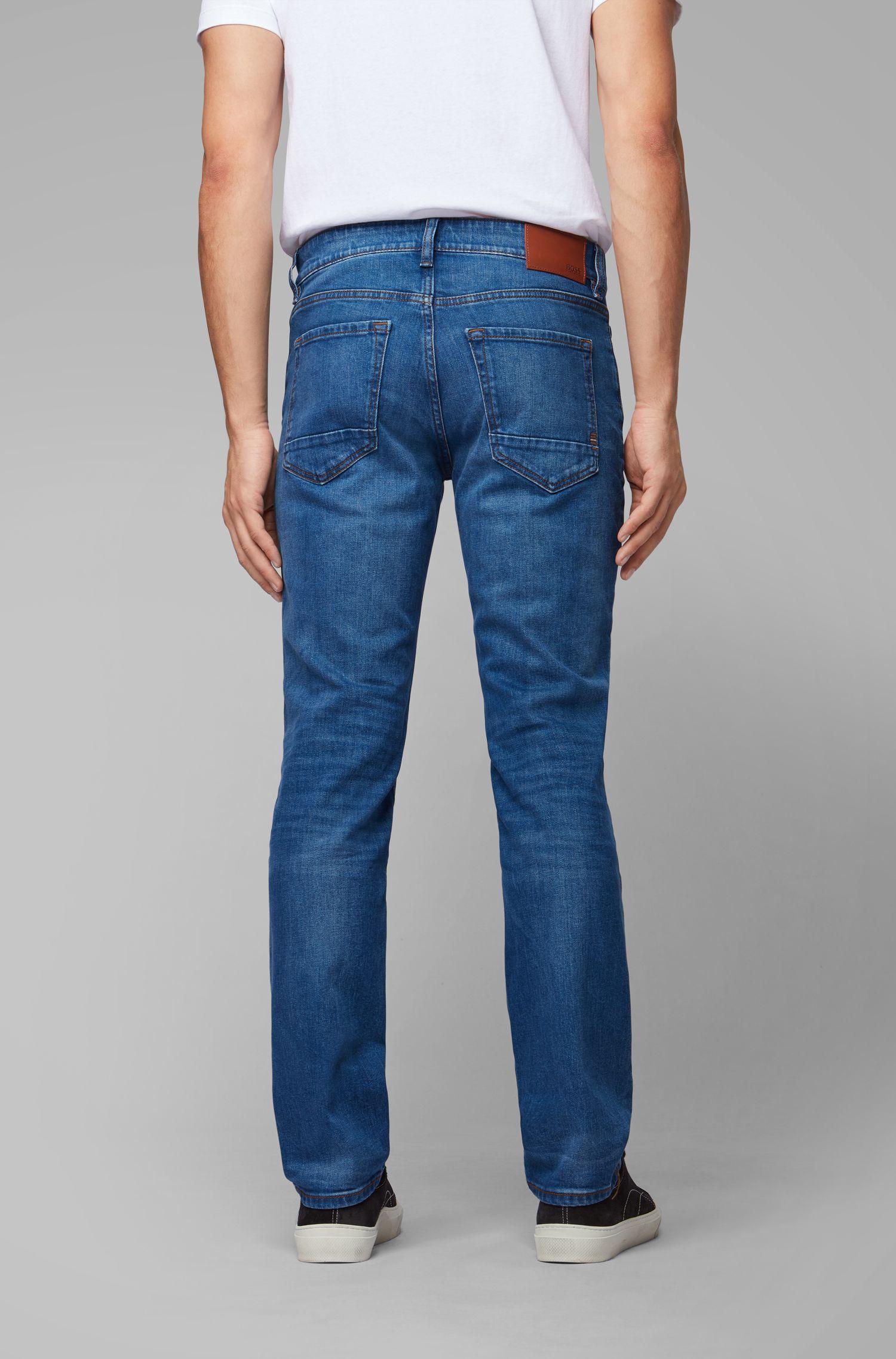 Regular-fit jeans van oceaanblauw comfort-stretchdenim, Blauw