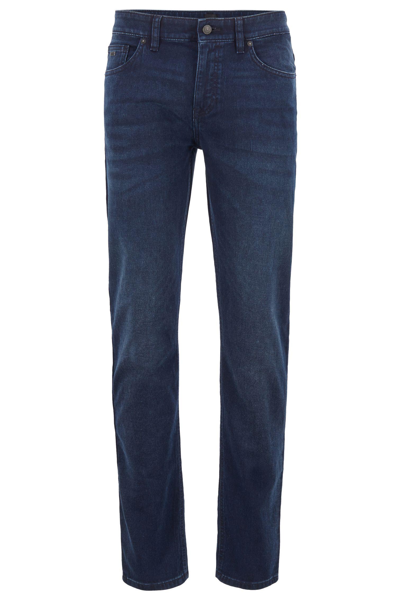 Slim-Fit Jeans aus gestricktem Stretch-Denim, Dunkelblau