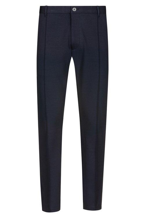 Hugo Boss - Extra-slim-fit trousers in melange jersey - 1