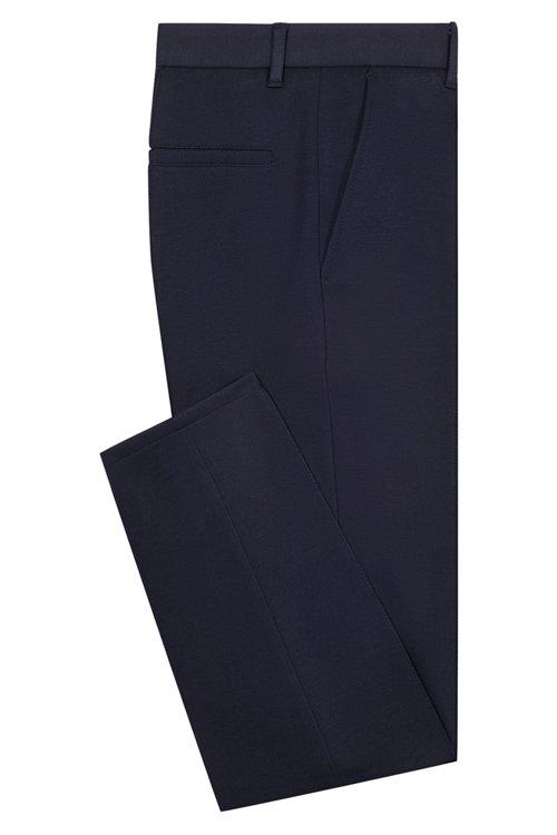 Hugo Boss - Extra-slim-fit trousers in melange jersey - 5