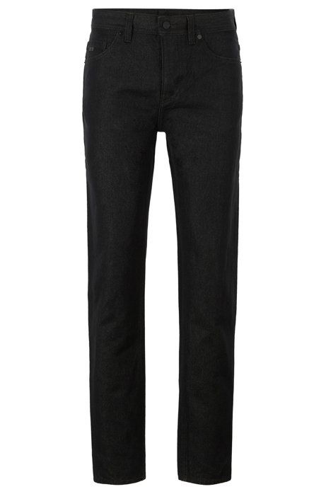 Tapered-fit jeans in Japanese paper-yarn denim, Black