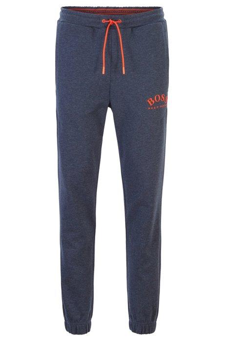 Slim-fit joggingbroek met gebogen logo, Lichtblauw