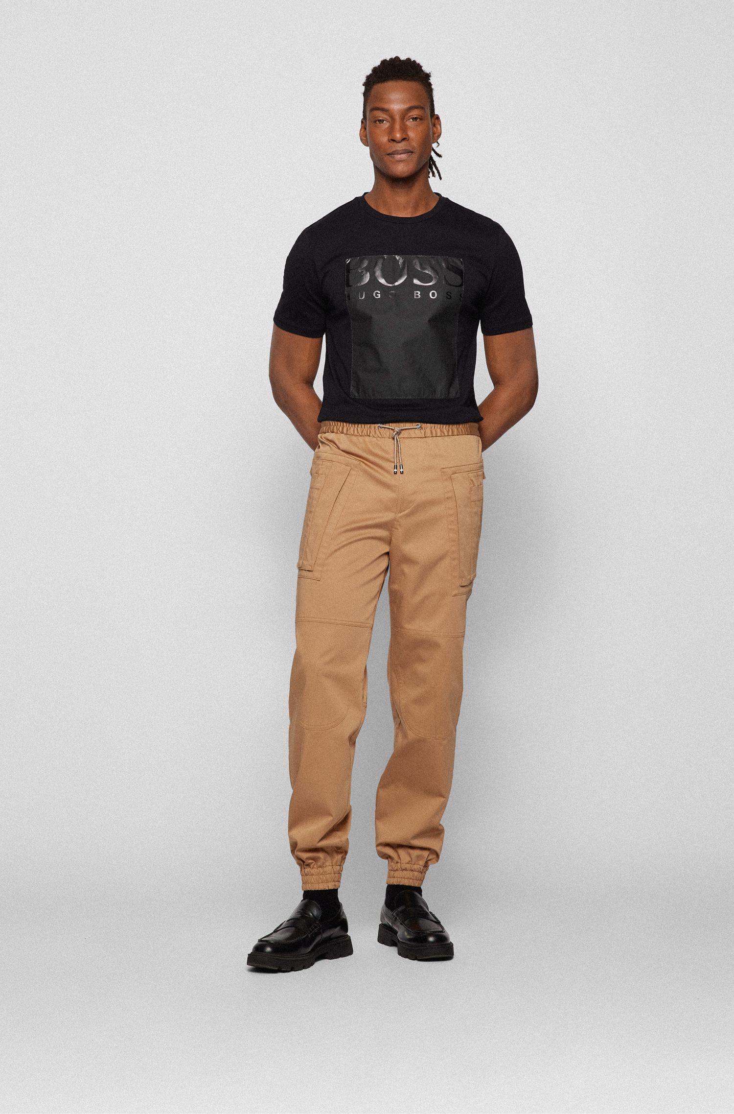 Crew-neck T-shirt with Tyvek® logo square, Black