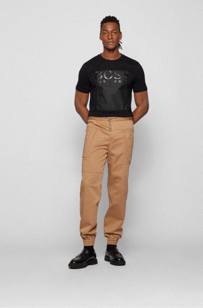 T-shirt a girocollo con logo quadrato in Tyvek®