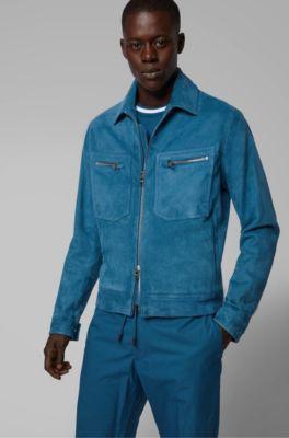 bb78a44a10 HUGO BOSS | Leather Jackets for Men | Premium Lambskin Jackets