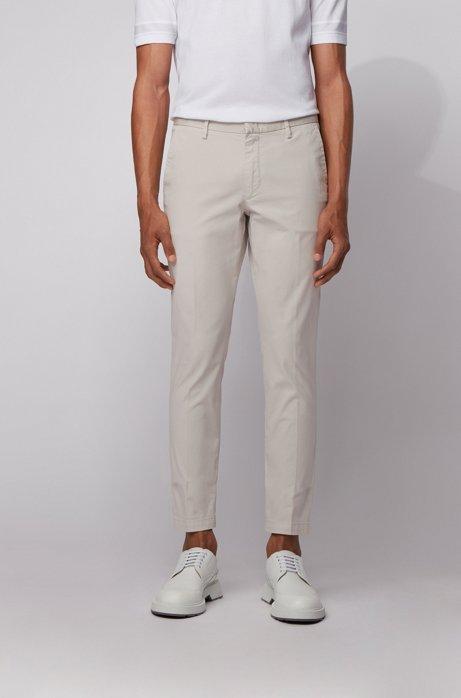 Chino Slim Fit en gabardine de coton stretch, Blanc