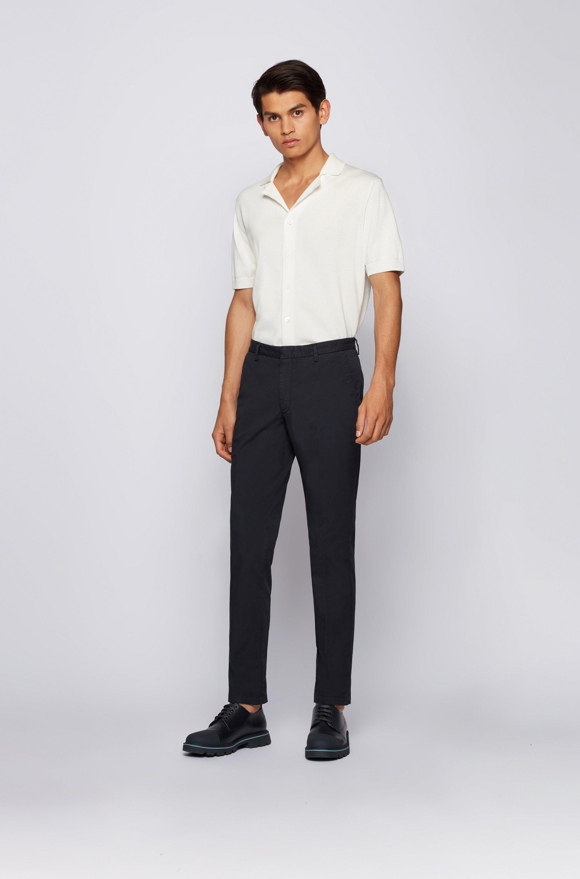 Slim-fit chinos in stretch-cotton gabardine