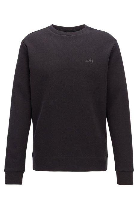 Regular-fit sweater van dubbellaags materiaal, Zwart