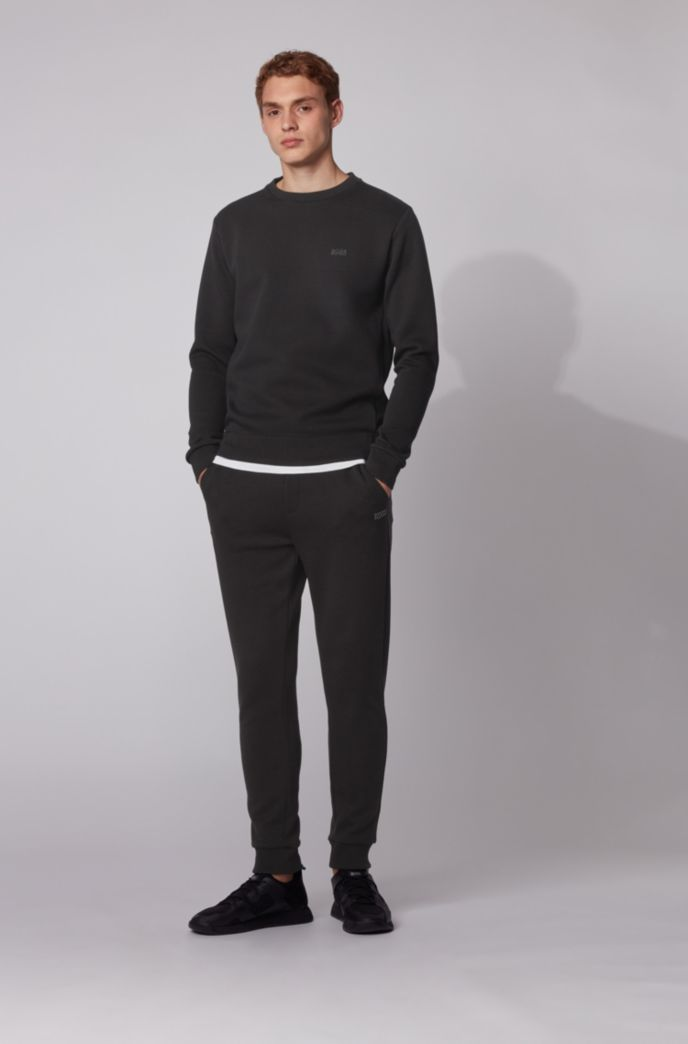 Regular-fit sweatshirt in double-faced fabric