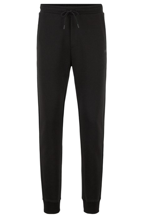 Pantalon de jogging Slim Fit à logo superposé, Noir